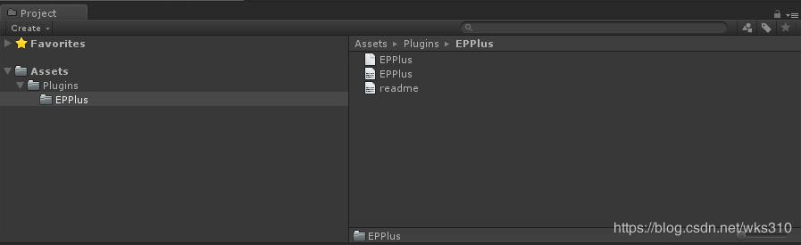 Unity uses EPPlus to create, write, and read Excel