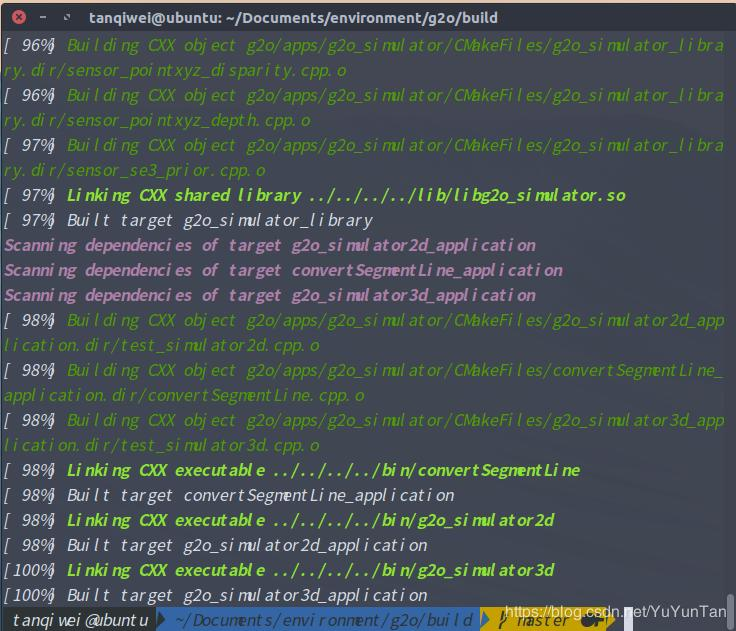 G2o learning record (4) cmake-gui compile g2o again and not