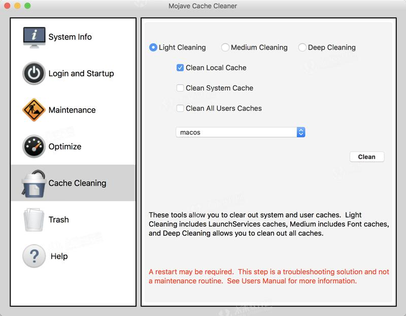 System optimization] Mojave Cache Cleaner for Mac crack