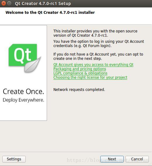 Linux platform QT development environment to build