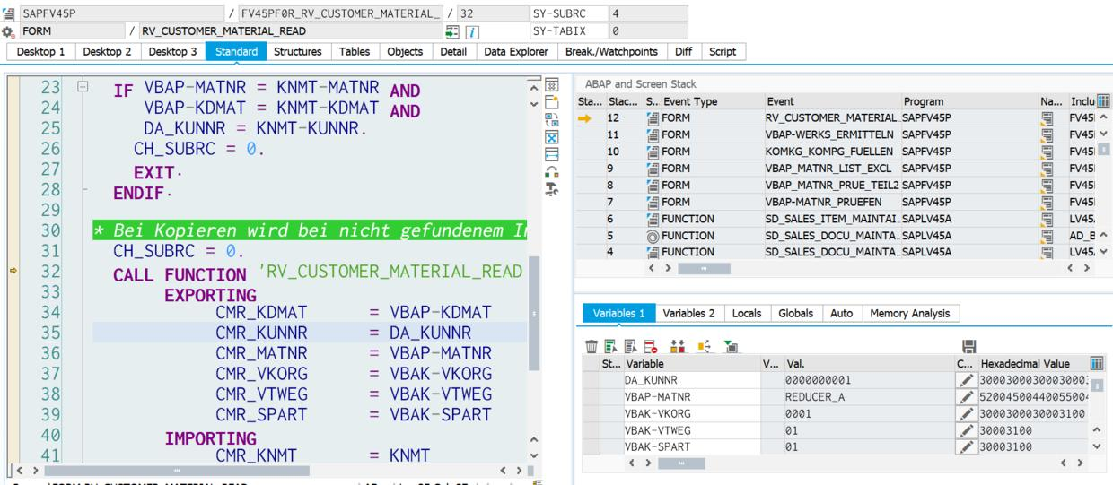 Where is the factory data used in the SAP S/4HANA production order
