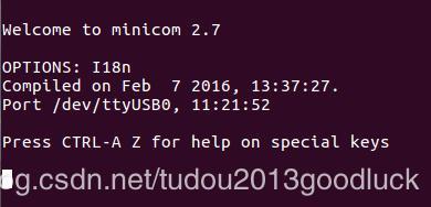 Ubuntu serial port tool minicom installation and use
