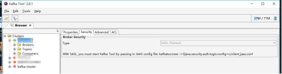 Kafka cluster uses SASL/PLAIN certification - Programmer Sought
