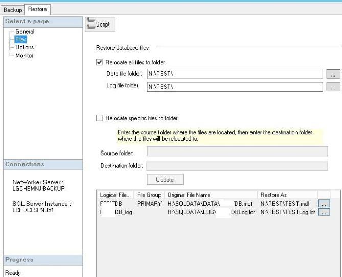 EMC networker nmm can restore and recover sqlserver as