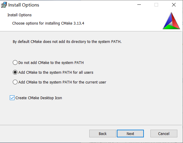 Qt: Installing the CMake project build tool on Windows 10