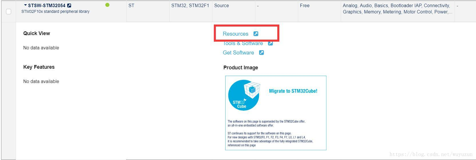 STM32 standard firmware library download, file introduction
