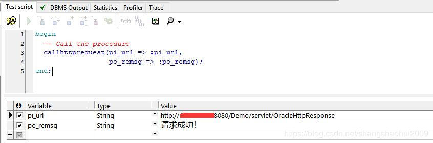Oracle sends http request Chinese garbled problem