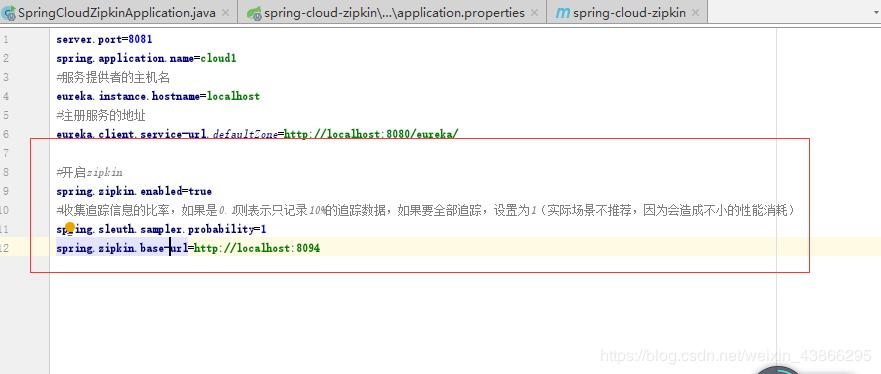 Spring cloud zipkin ( Sleuth ) service link tracking