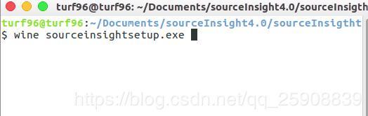Perfect solution] Ubuntu install wine SourceInsight4 0 Chinese