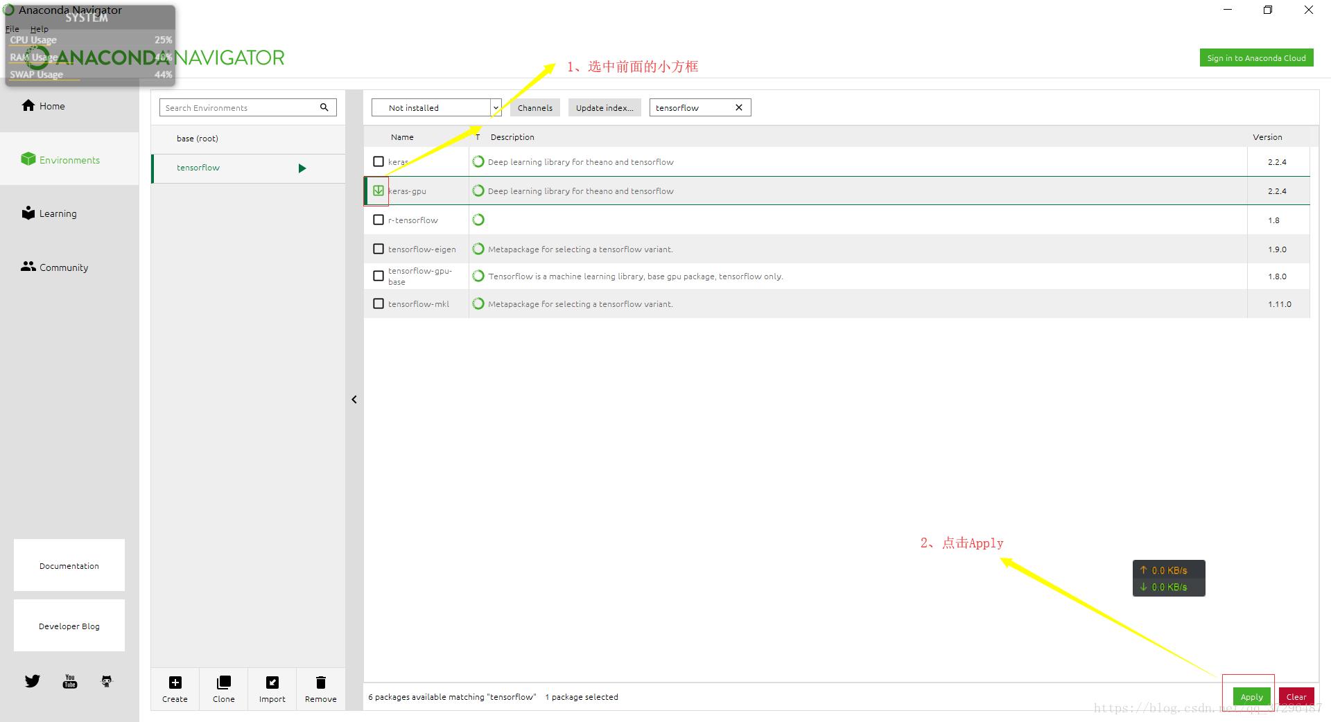 Anaconda navigator install tensorflow gpu | How to Setup a