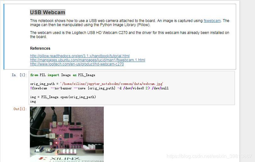 USB Webcam in PYNQ2 - Programmer Sought