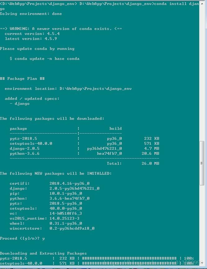 Create a virtual environment under Anaconda and install