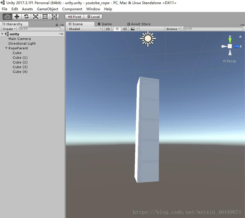 unity 3D] Summary of making rope (Rope) in unity