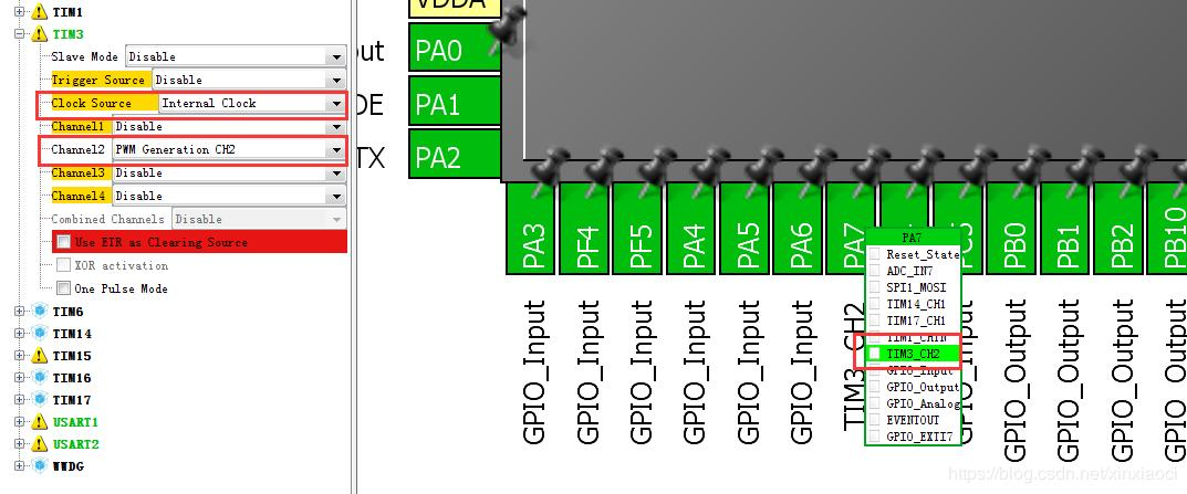 STM32 HAL library PWM output configuration record - Programmer Sought