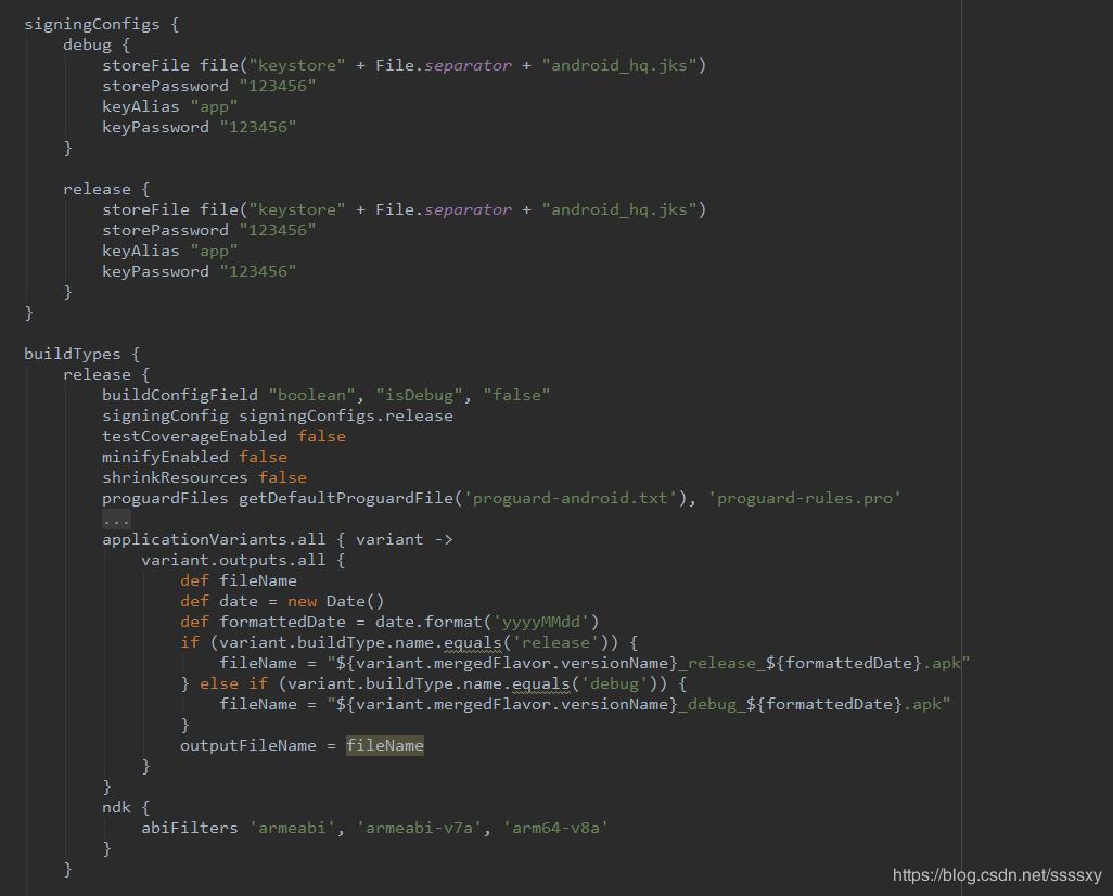 android studio apk file name