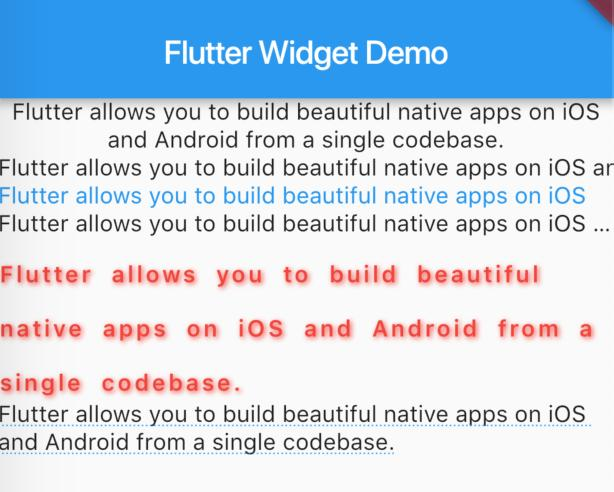 Flutter commonly used Widget (1) - Programmer Sought