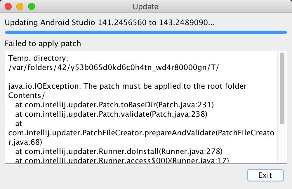 Manually update Android Studio under Mac OSX - Programmer Sought