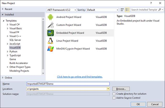 Import the Keil project into VisualStudio using VisualGDB