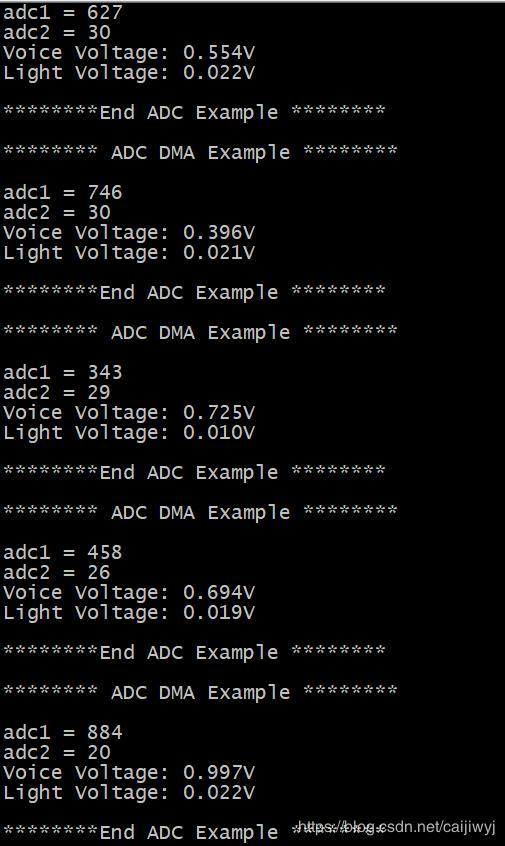 STM32 ADC multi-channel sampling sound sensor and ambient light