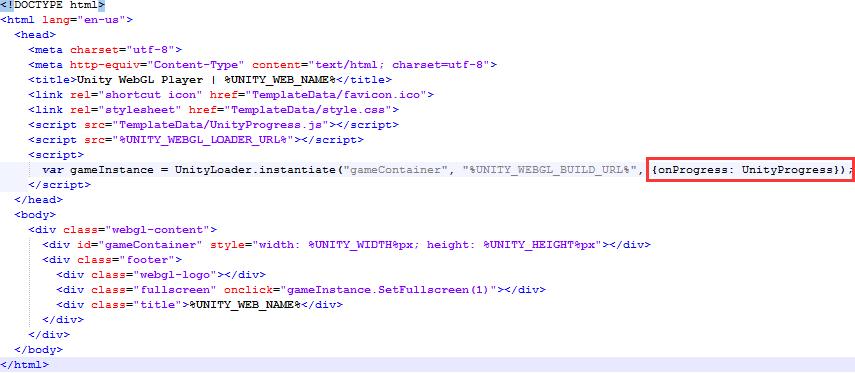 How to modify the default loading progress bar when Unity