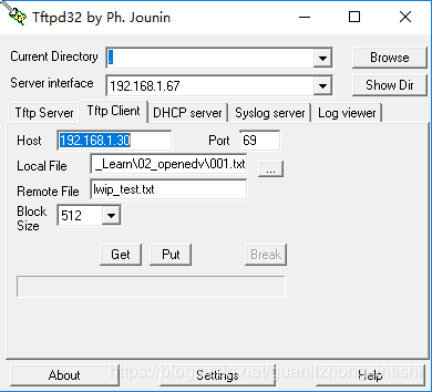 UDP] [TFTP] Description of the TFTP server program based on