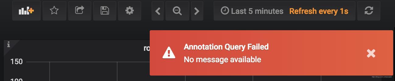 Grafana:Annotation Query Failed No message available