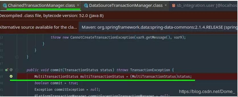 Spring transaction management (2) JTA and chained