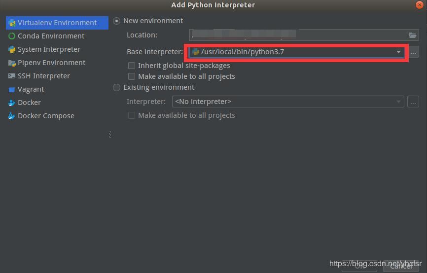 Ubunt1804 install python3 7 2 and Pycharm interpreter settings