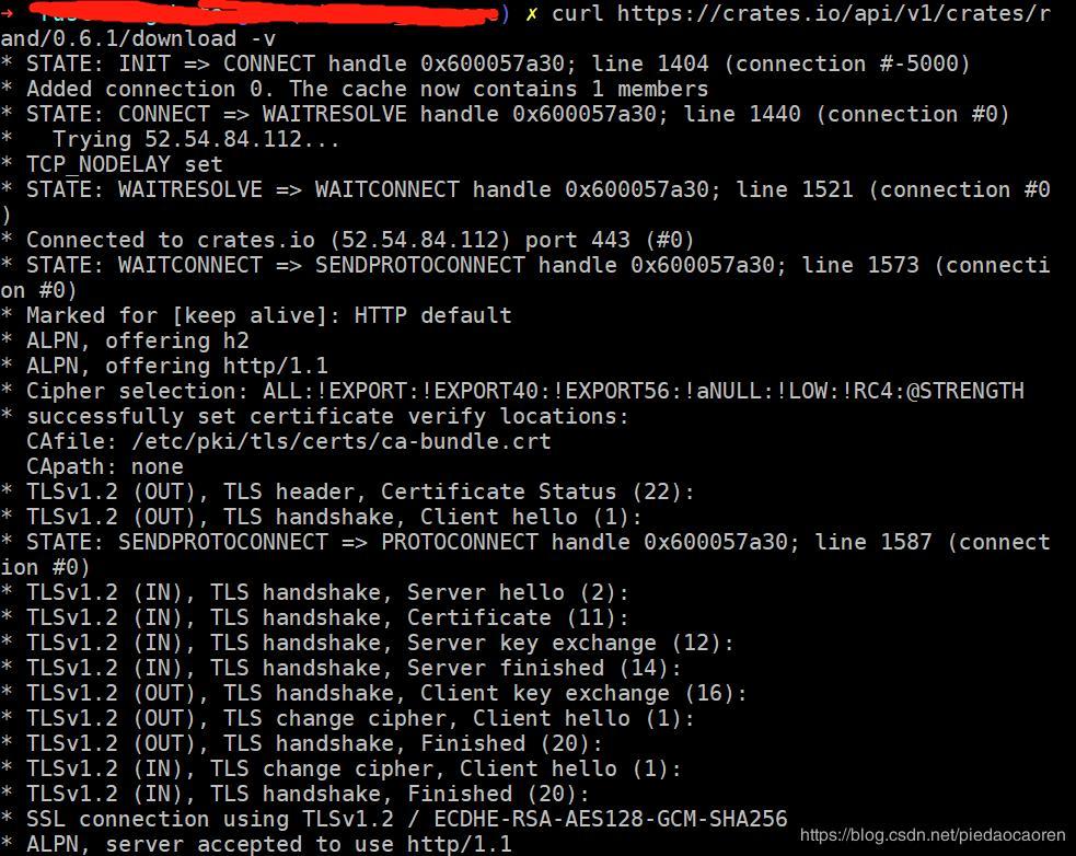 cargo build failed: SSL connect error (schannel: failed to