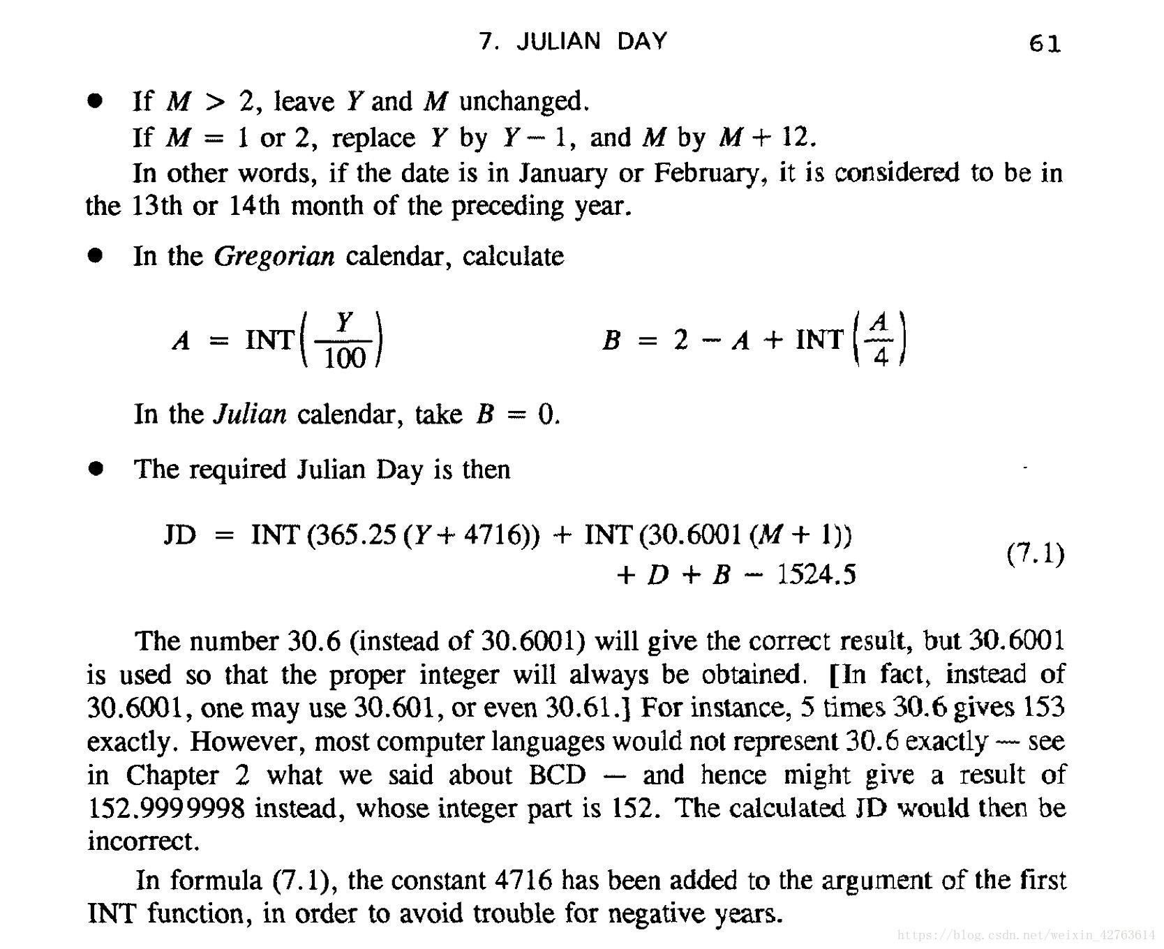Julian Day and Gregorian Calendar - Programmer Sought