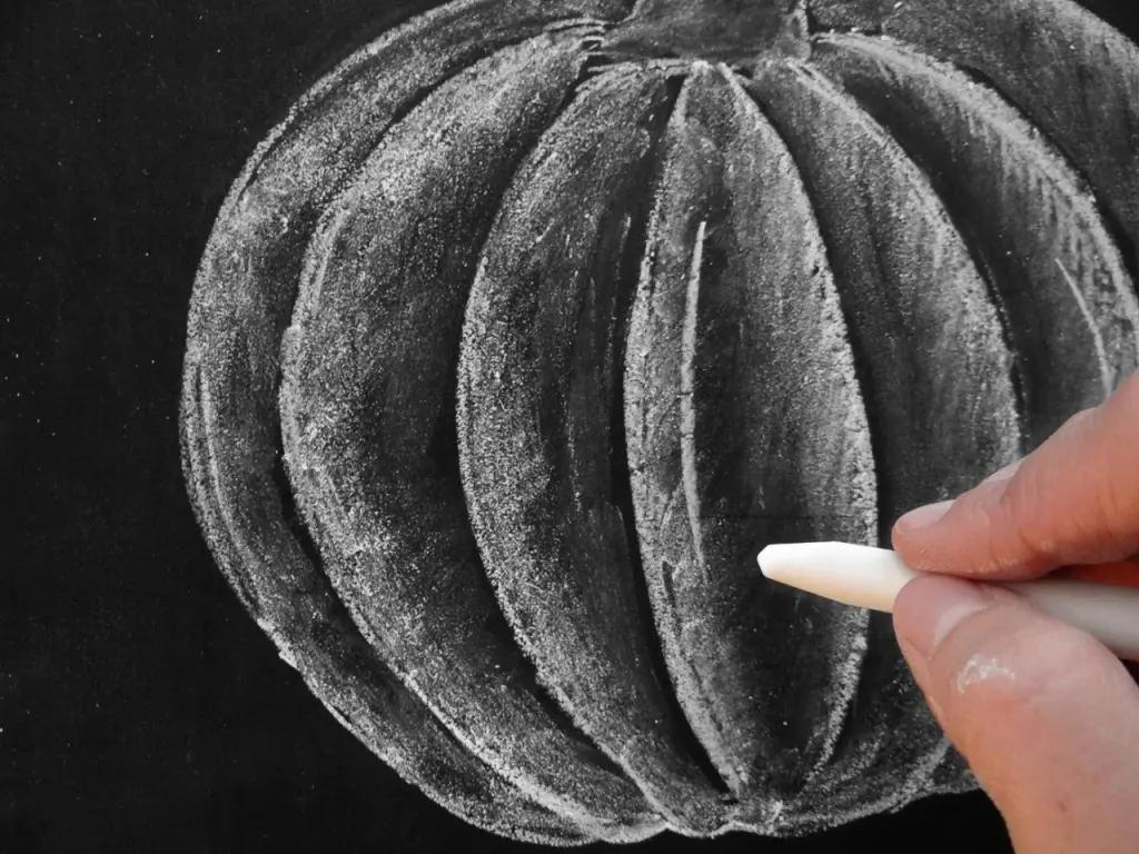 How To Draw A Pumpkin With Chalk Programmer Sought
