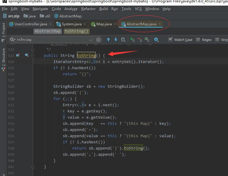 Java Map toString() source code interpretation test ... Map Iterator on