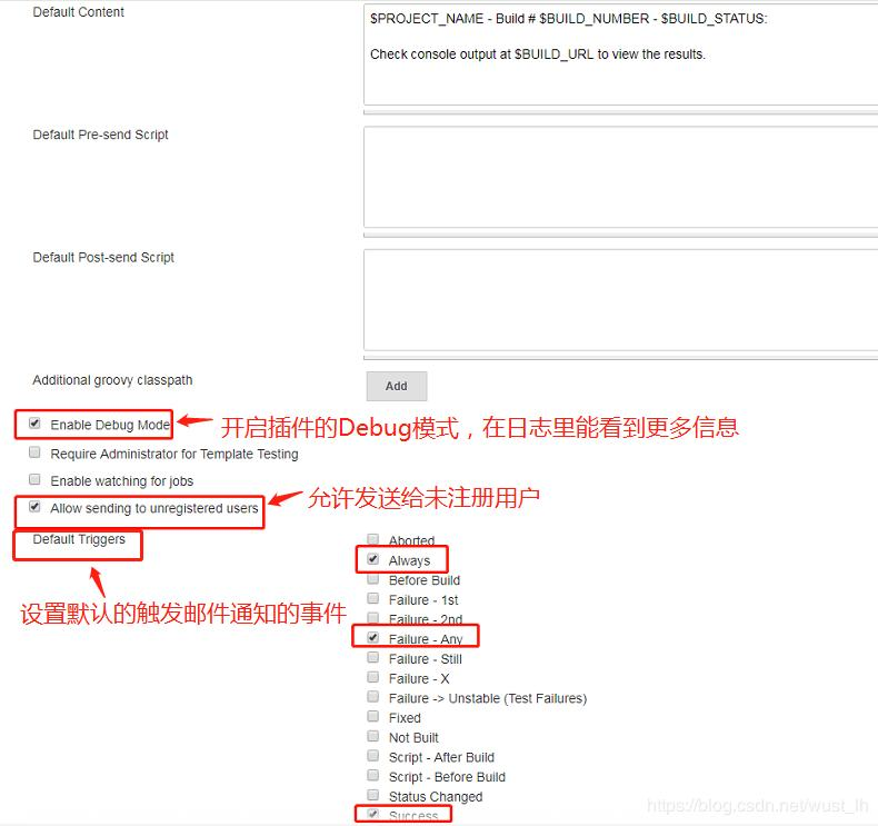 Send mail by Jenkins plugin Email Extension Plugin (take QQ