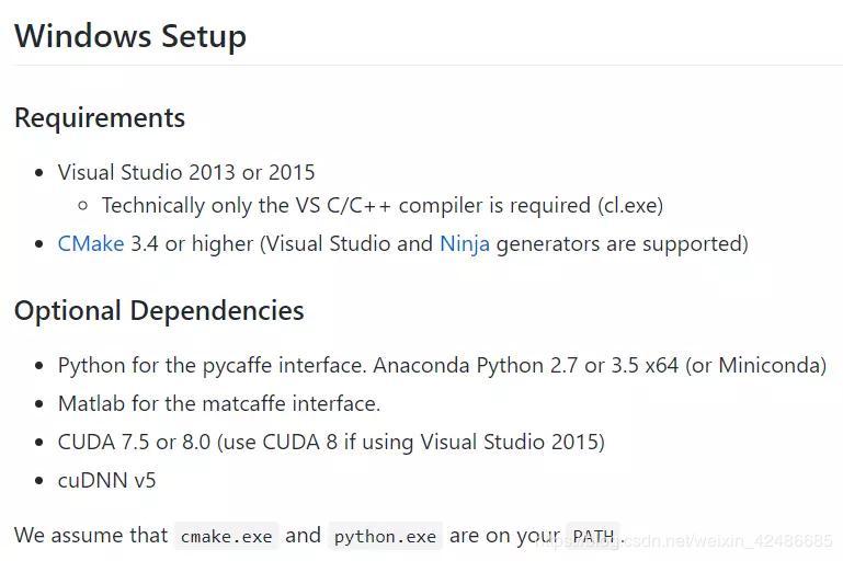 Caffe installation process under windows/ubuntu system