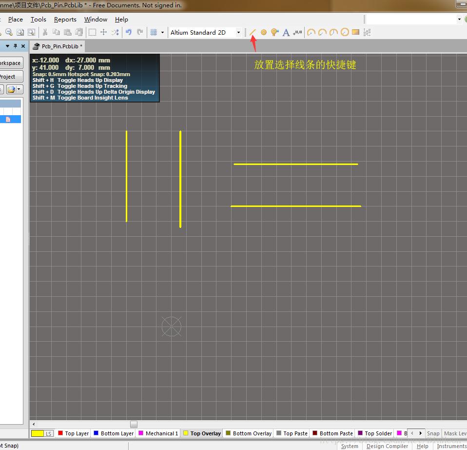 Altium Designer operations - making PCB pin package