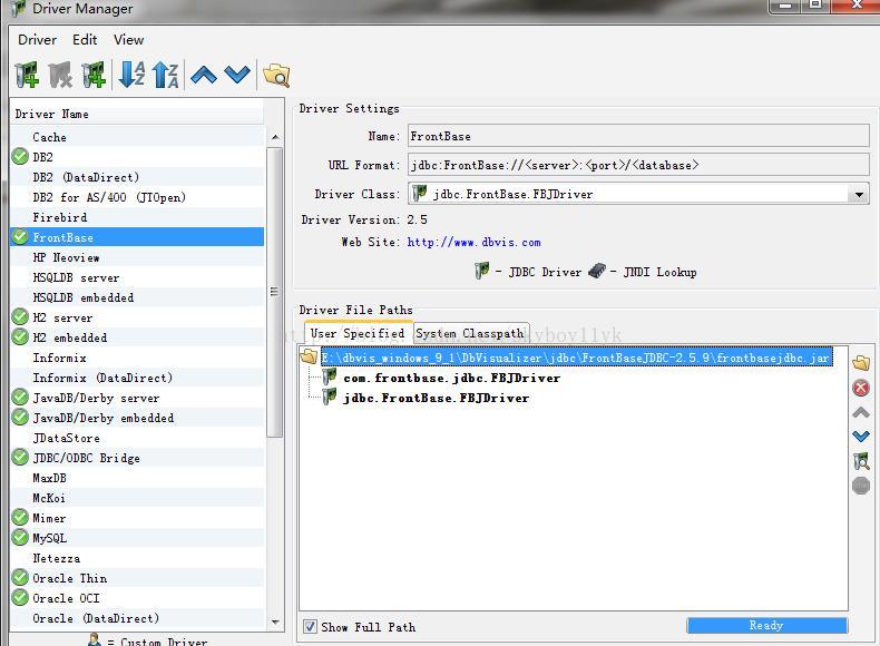 DBVisualizer adds database JDBC driver - Programmer Sought