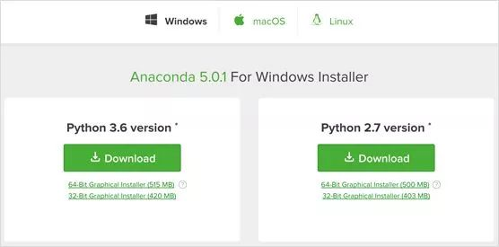 Python environment installation (Anaconda+Jupyter notebook+