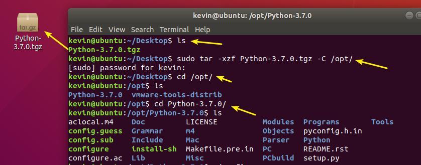 Ubuntu 18 04 install Linux version Python3 interpreter