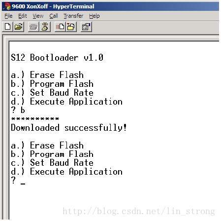 Bootloader program for S12(X) microcontroller - Programmer