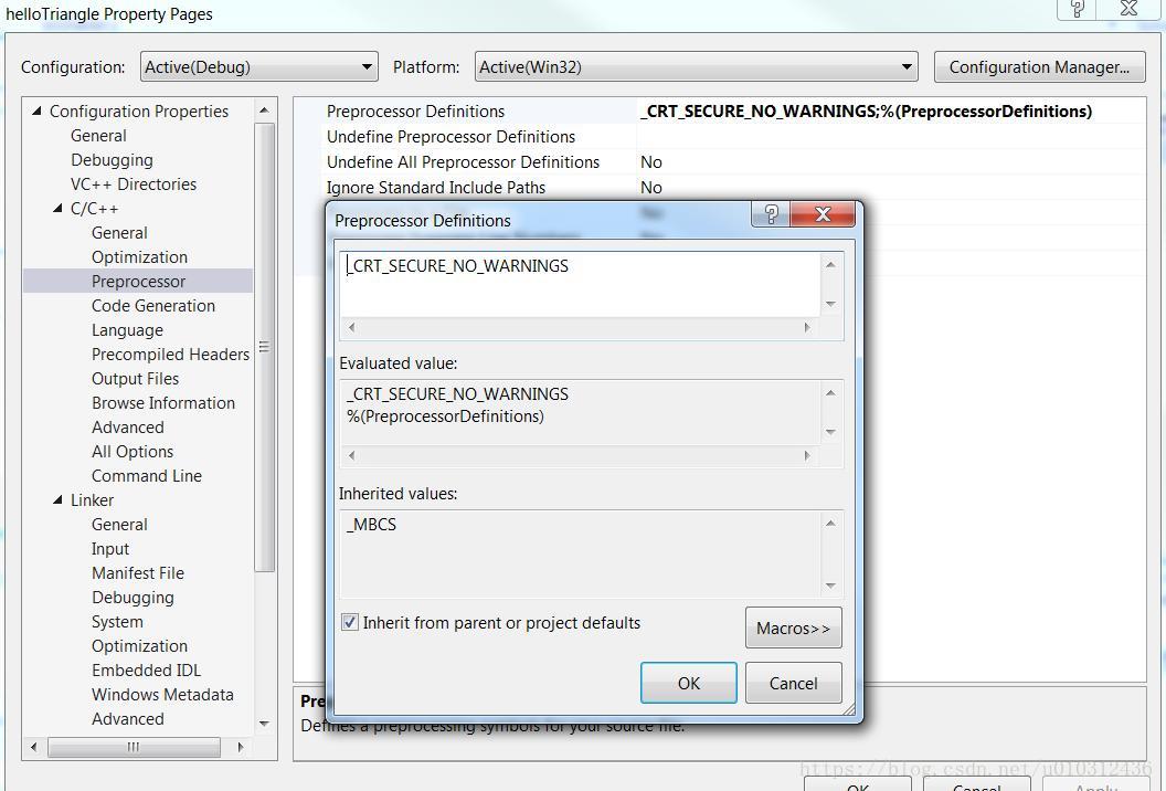 Building OpenGL ES3 0 development environment under Windows